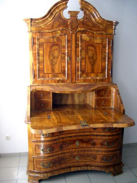 seltener dresdener barock schreibschrank um 1760 in nu baum antike mbel und antiquitten berlin. Black Bedroom Furniture Sets. Home Design Ideas