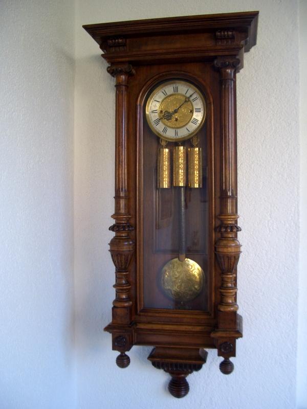 Schner Wiener Regulator Mit Drei Gewichten Antike Mbel